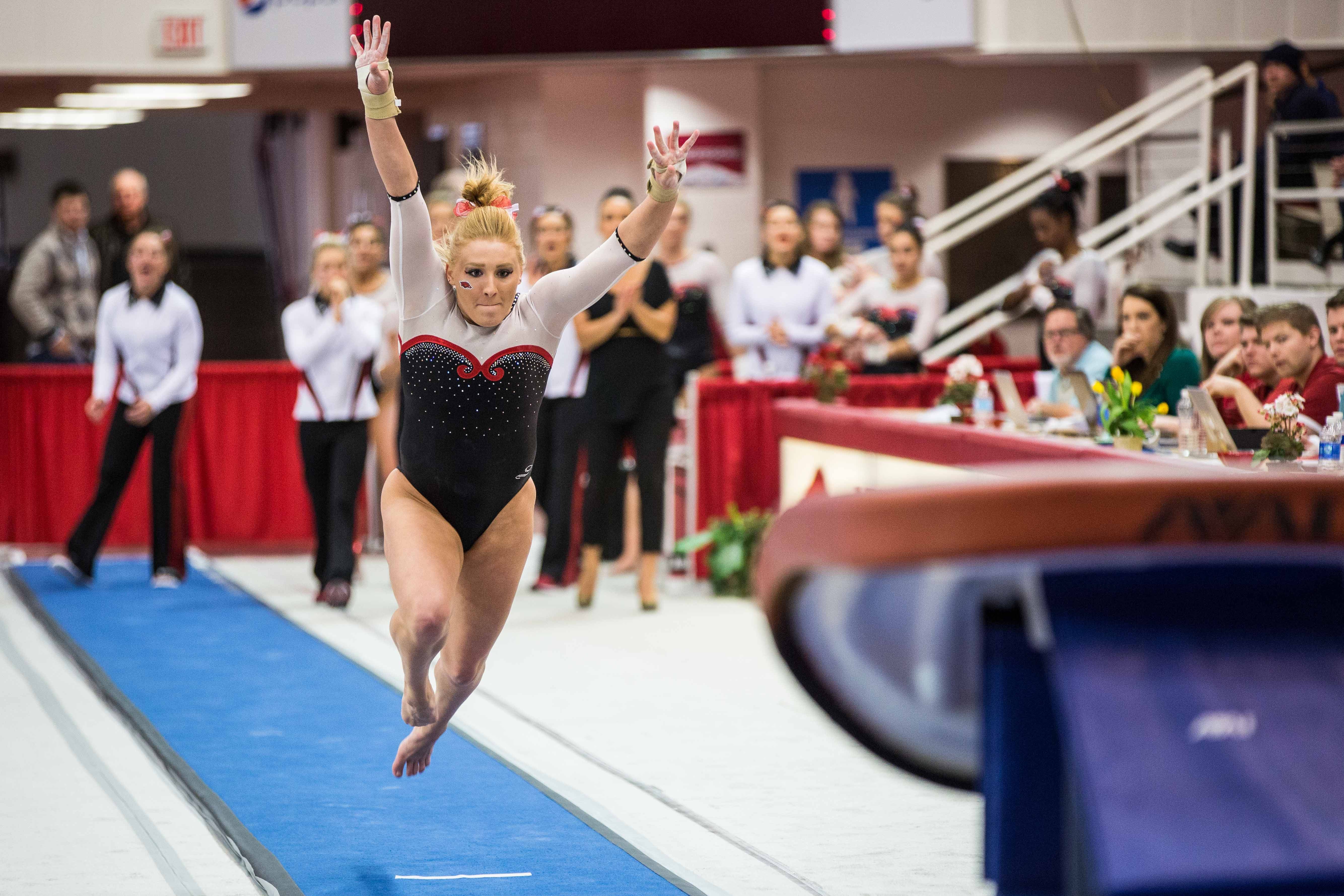 Arkansas vs. Oklahoma Gymnastics   Arkansas Razorbacks